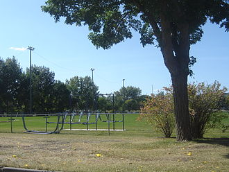 Saskatoon Hilltops - Kilburn Park in Buena Vista is the practice field of the Saskatoon Hilltops