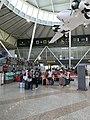 Aéroport Olbia - juillet 2017 - attente à l'enregistrement.JPG