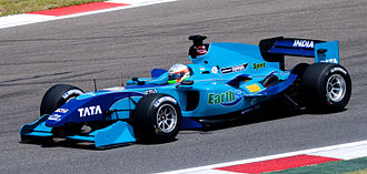 Narain Karthikeyan - Karthikeyan competing for A1 Team India at the 2008–09 A1 Grand Prix of Nations, South Africa.