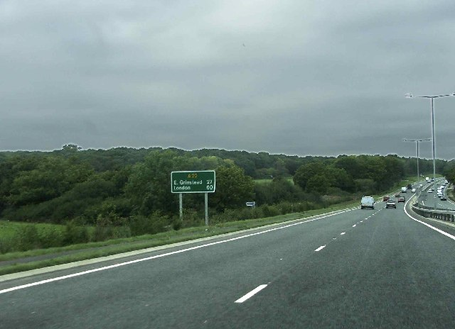 A22 northbound towards East Grinstead - geograph.org.uk - 68150