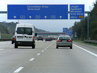 Autobahn - Autobahn with 4 lanes in each direction
