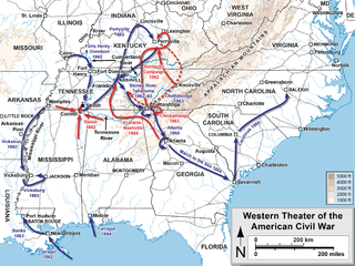 Western Theater of the American Civil War Military operations in of Alabama, Georgia, Florida, Mississippi, North Carolina, Kentucky, South Carolina and Tennessee, and Louisiana east of the Mississippi