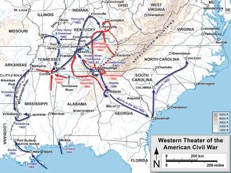 America Occidentale Cartina.Teatro Occidentale Della Guerra Di Secessione Americana Wikipedia