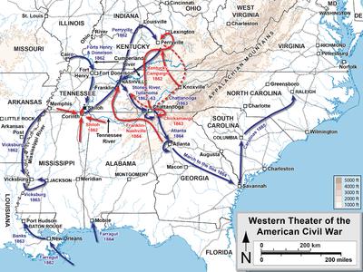 U.S. Civil War Theaters- Western