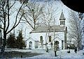A Gyógyfürdő parkja (ma Dr. Schulhof Vilmos sétány), kápolna. Fortepan 86690.jpg