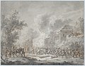 A Skirmish with Soldiers Near a Farm; Verso- Sketch with Soldiers MET DP875885.jpg