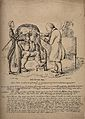 A doctor examining a disgruntled patient, John Bull Wellcome V0011373.jpg
