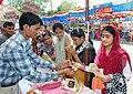 """A free blood testing camp at """"Bharat Nirman Lok Mahiti Abhiyan"""", at Shahada, District Nandurbar, Maharashtra on April 22, 2011.jpg"""