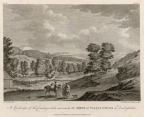 A landscape of the country which surrounds the Abbey of Vallis Crucis in Denbighshire