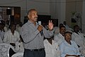 A person asking his query during the session on RTI, at the Bharat Nirman Public Information Campaign, in Amravati Maharashtra on May 16, 2011.jpg