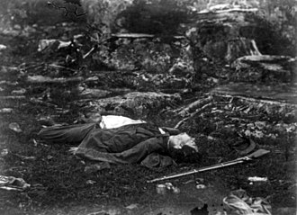Alexander Gardner (photographer) - A Sharpshooter's LAst sleep (1863)