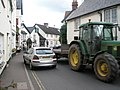 A tight squeeze in Porlock High Street - geograph.org.uk - 935344.jpg