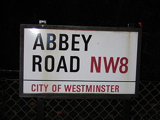 Street or road name - Abbey Road in London