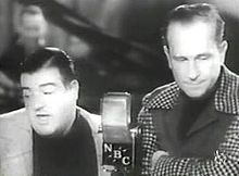 Abbot and Costello performing Who's on First