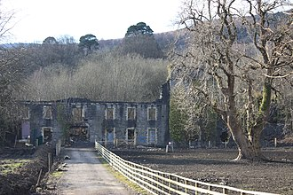 Aberpergwm House - The remains of Aberpergwm House, March 2010