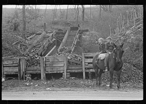 Barbourville, Kentucky - Abner Mine near Barbourville, 1940.  Photo by Marion Post Wolcott.