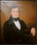 Abraham Prescott Jr. by Calvin Balis, 1842, oil on canvas - Peabody Essex Museum - DSC07603.jpg