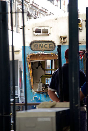 2012 Buenos Aires rail disaster - Image: Accidente tren once argentina