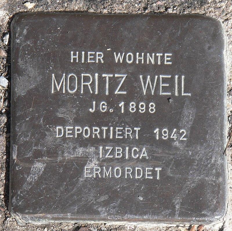 Acholshausen Stolperstein Weil, Moritz.jpg