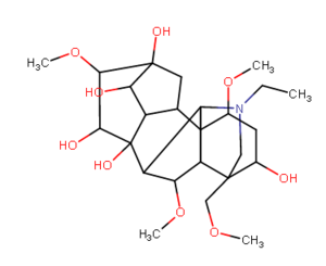 Aconitine - Aconine: an amorphous, bitter, non-poisonous alkaloid, derived from the decomposition of aconitine.