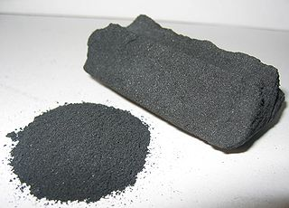 Activated carbon Form of carbon processed to have small, low-volume pores that increase the surface area