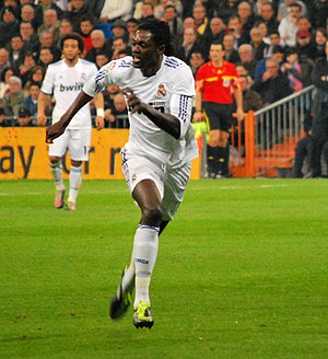 Emmanuel Adebayor - Adebayor with Real Madrid