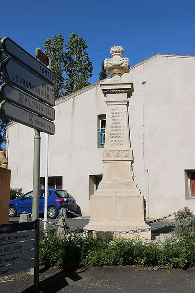 Adissan (Hérault) -monument aux morts