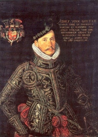 Adolf, Duke of Holstein-Gottorp - Duke Adolf in cuirass, painting by an unknown author, 1586.