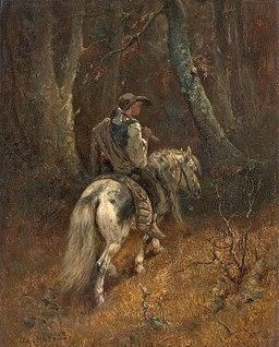 Adolf Schreyer Reiter im Wald