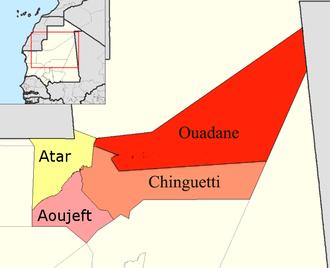 Adrar Region - Departments of Adrar