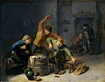 Adriaen Brouwer - Peasants Brawling over Cards.jpg