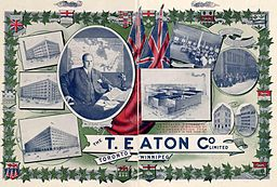 Advertisement for Eaton's Department Store 1907