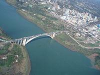 Aerial view of Friendship Bridge between Brazil and Paraguay.jpg