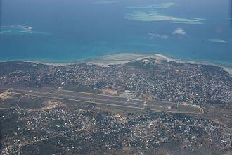 Abeid Amani Karume International Airport - Aerial view.