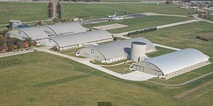 National Museum of the United States Air Force - Aerial view of the National Museum of the U.S. Air Force