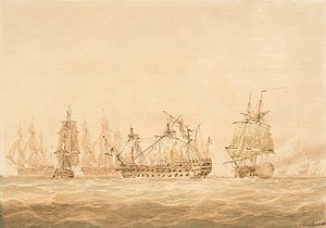 Battle of Genoa (1795) - Image: Agamemnon and Ca Ira 1795