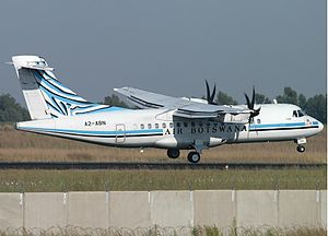 1999 Air Botswana incident - An Air Botswana ATR-42 similar to the one involved