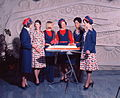 Air Hostess Uniform 1975 Red and Blue 001 (9626667420).jpg