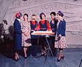 Air Hostess Uniform 1975 Red and Blue 001 (9626667420).jpg