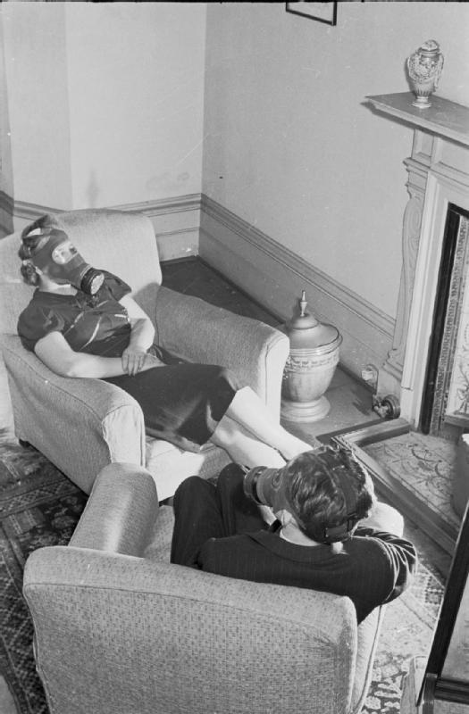 Air Raid Precautions on the British Home Front- Anti-gas Instruction, c 1941 D3948