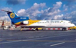 Air Ukraine - An Air Ukraine Yakovlev Yak-42 (in the later dedicated Air Ukraine livery) at Stuttgart Airport (1998).