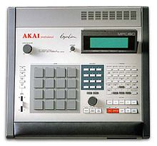 An electronic musical sampler and drum machine.