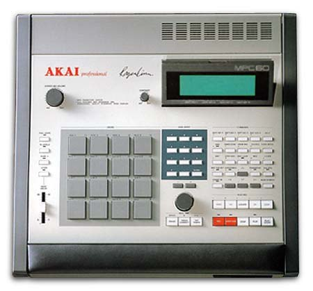 A typical groovebox (Akai MPC60) providing sampler and sequencer