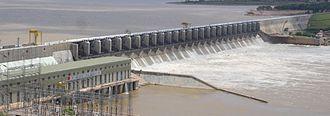 Almatti Dam - Almatti Dam with its right bank power house