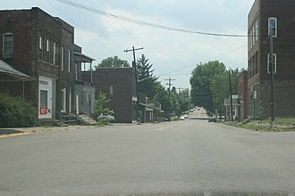 Albany, Ohio - A view of Albany with State Route 681 in the background