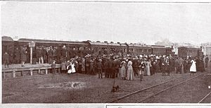 "Albany railway station, Western Australia - 1901 royal train at Albany railway station, from ""Alluring Albany"""