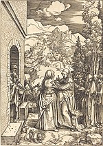 Albrecht Dürer, The Visitation, c. 1504, NGA 6700.jpg