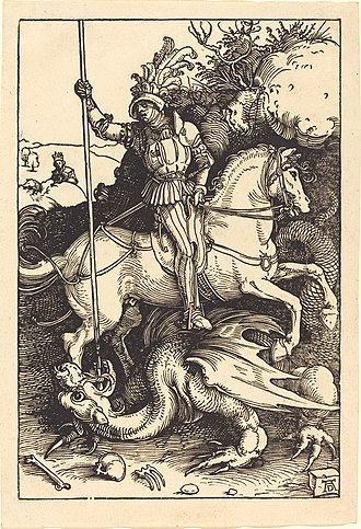 Saint George and the Dragon - Image: Albrecht Dürer Saint George Killing the Dragon (NGA 1943.3.3597)