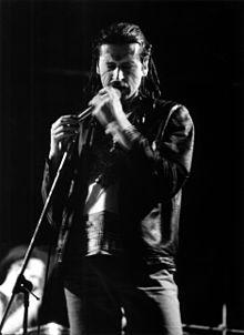 Aleš Drvota (foto M. Kouta z koncertu skupiny Babalet cca 1986)