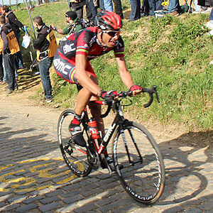 2012 Tour of Flanders - Alessandro Ballan finished third behind Tom Boonen and Filippo Pozzato.